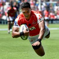 Timothy Lafaele is one of the veterans named to the Brave Blossoms lineup for the upcoming autumn test series. | AFP-JIJI