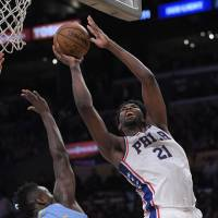 Embiid's 46 lifts 76ers over Lakers