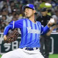 BayStars starter Shota Imanaga fires a pitch in Game 6. | KYODO