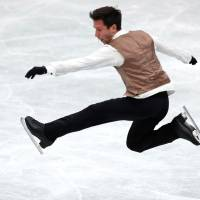 Israel's Alexei Bychenko placed second in the men's short program, earning 85.52 points. | REUTERS