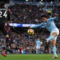 City beats Arsenal to move eight points clear