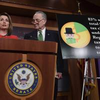Democrats aim for 2018 midterm boost from Trump tax plan fallout, target 'complicit' GOP incumbents