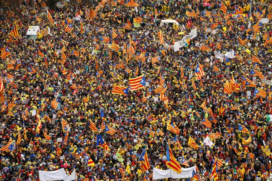 Almost 50,000 march in Brussels to 'wake up Europe' over Catalan struggle for independence