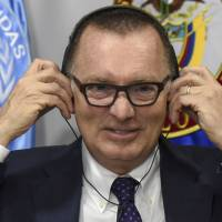 U.N. political affairs chief Jeffrey Feltman, shown on Nov. 15, is in North Korea for talks that may be little publicized yet crucial. | AFP-JIJI