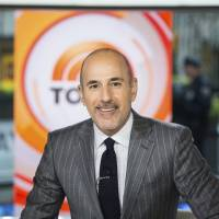 Matt Lauer appears Nov. 8 on the set of the 'Today' show in New York. On the week host Lauer was fired because of sexual misconduct charges, NBC's 'Today' show beat its rivals at ABC for the first time in three months. | NATHAN CONGLETON / NBC / VIA AP