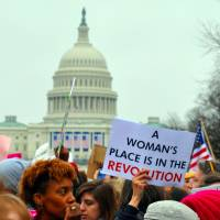 The Women's March on Washington on Jan. 21 spawned sister demonstrations from London to Tokyo. | EDWARD KIMMEL, VIA WIKIMEDIA COMMONS / CC BY-SA 2.0