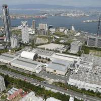 The Intex Osaka convention center in Suminoe Ward is seen in September. Osaka is a likely candidate for hosting the leaders' summit for the Group of 20 major economies in 2019, sources say. | KYODO