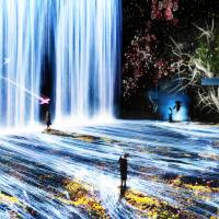 The digital artwork 'Transcending Boundaries' by teamLab, a Tokyo-based art collective known for its digital art installations, is displayed. The group's artworks are expected to bring many visitors to next year's Japonismes 2018 in Paris. | TEAMLAB