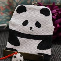 A panda-shaped coin purse and a bell said to make sounds like 'Xiang Xiang' are displayed at a department store near Ueno Zo. | CHISATO TANAKA