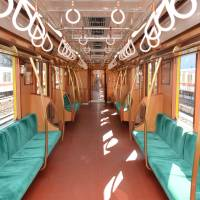 Tokyo Metro replicated the interior of the Ginza Line's original 1000 series and put it into service in 2016. | COURTESY OF TOKYO METRO