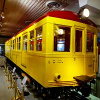 The first carriage of the Ginza Line's 1000 series sits in Tokyo Metro Museum. | TIM HORNYAK