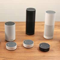 Listen up: Amazon Echo devices are part of the AI-powered smart speaker push that aims to revolutionize how some households operate. | KYODO