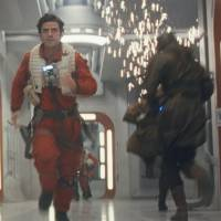 On the move: Oscar Isaac's Poe Dameron and the droid BB-8 make a mad dash in 'Star Wars: The Last Jedi.' | © 2017 LUCASFILM LTD. ALL RIGHTS RESERVED.