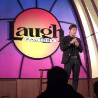 Windy city wind-up: Saku Yanagawa performs at Laugh Factory Chicago in September. | LAUGH FACTORY CHICAGO / VIA KYODO