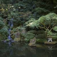 A strolling pond garden at the Portland Japanese Garden in Oregon. | CHRISTINA SJOGREN