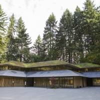 The Portland Japanese Garden in Oregon contains a village-like square that boasts a cafe, library and exhibition space.   CHRISTINA SJOGREN