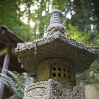 A stone lantern at the Portland Japanese Garden in Oregon. | CHRISTINA SJOGREN