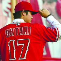 In demand: No. 17 Shohei Ohtani is introduced to fans during a press conference at Anaheim Stadium earlier this month. | JAYNE KAMIN-ONCEA / USA TODAY SPORTS / VIA REUTERS