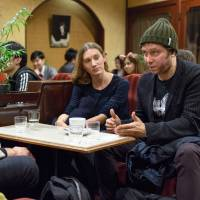 Screen talk: Adam Torel, Bryerly Long and Jason Gray have all encountered problems specific to their roles as producers and actors in the Japanese film industry. | JAMES HADFIELD