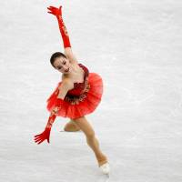 Russia's Alina Zagitova performs her free skate routine on Saturday at the Grand Prix Final in Nagoya. Zagitova finished first with 223.30 points. | REUTERS