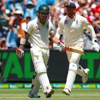 David Warner's century gives Australia solid start in fourth Ashes test