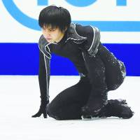 Yuzuru Hanyu has been struggling to get back on the ice since suffering an ankle injury while practicing for the NHK Trophy in November. | KYODO