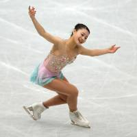 Yuna Shiraiwa, who placed second at the Japan Junior Championships in 2015 and 2016, participated in her first season on the senior Grand Prix circuit this fall. | REUTERS