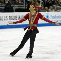 American Nathan Chen cleanly landed five quadruple jumps in his free skate on the way to victory at the U.S. national championships last season. USA Today / VIA REUTERS