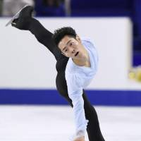 Daisuke Murakami is in fourth place (80.99 points) after the men's short program.   KYODO