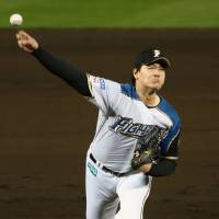 Hokkaido Nippon Ham pitcher Kohei Arihara will be looking to regain his 2016 form next season as the Fighters move on from departed ace Shohei Ohtani. | KYODO