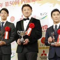 Champion Hawks honored with Japan's top pro sports award