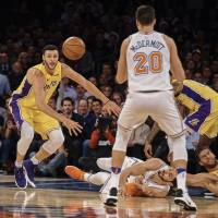 Kristaps Porzingis and Knicks see off Lonzo Ball and Lakers