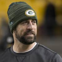 Packers quarterback Aaron Rodgers could be available for Sunday's game against the Panthers. | AP