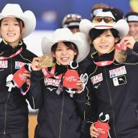 Japan wins speedskating World Cup women's team pursuit in new world-record time