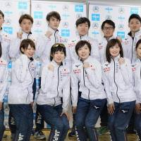 The Japan speedskating team for the 2018 Pyeongchang Winter Olympics is unveiled on Saturday in Nagano.   KYODO