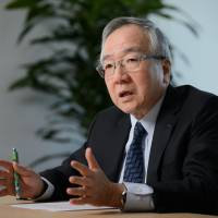 Citizen Watch Co. President and CEO Toshio Tokura is seen during an interview in Tokyo on Thursday. | BLOOMBERG