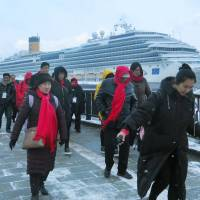 Cruise ship boom generating new tour services in Japan
