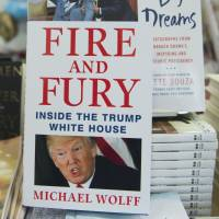 A copy of the book 'Fire and Fury: Inside the Trump White House' by Michael Wolff sits on display at a bookstore in Washington. | AFP-JIJI