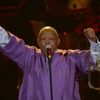 South African musician Hugh Masekela performs at the Staples Center during the pre-telecast of the 55th Grammy Awards in Los Angeles in 2013. South African jazz legend Hugh Masekela died on Tuesday aged 78, his family announced, triggering an outpouring of tributes to his music, his long career and his anti-apartheid activism. | AFP-JIJI