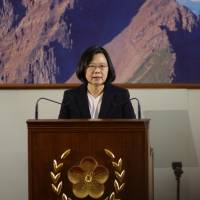 Taiwan President Tsai Ing-wen speaks during her end-of-year news conference in Taipei on Dec. 29. | REUTERS