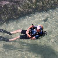 Snorkelling in crystal-clear water
