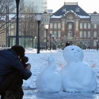 It's snow big deal: Tokyoites share wintry fun
