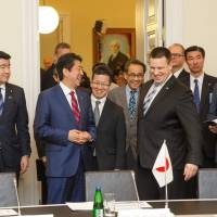 Abe wins cybersecurity support in meeting with Estonian leader Juri Ratas