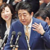 Abe disagrees with LDP calls to largely rewrite war-renouncing Article 9