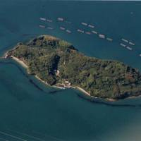 Islands for sale: A small, uninhabited islet is seen in Hiroshima. The island is being marketed for sale to buyers seeking a retirement home or holiday getaway. | PHOTO COURTESY OF MASA SATO