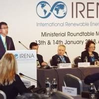 In rare dissent, Foreign Minister Taro Kono says Japan's energy policy 'lamentable' at conference on renewables