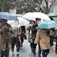 Tokyo hit by heaviest snow since 2014