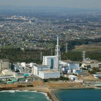 The Tokai No. 2 nuclear power plant in Ibaraki Prefecture is seen in March 2017. | KYODO
