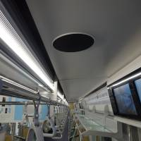 The 13000 series trains, which entered service on Tokyo Metro Co.'s Hibiya Line in March last year, boast a high-quality stereo system. | TOKYO METRO CO.