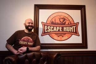Escape Hunt Tokyo Manager Dennis Oliver wants customers to put their cellphones away when visiting his facility.